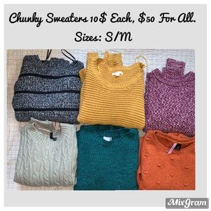 Women's Assorted Brands Chunky Sweaters